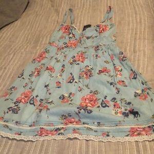 Never worn A& F light blue floral dress